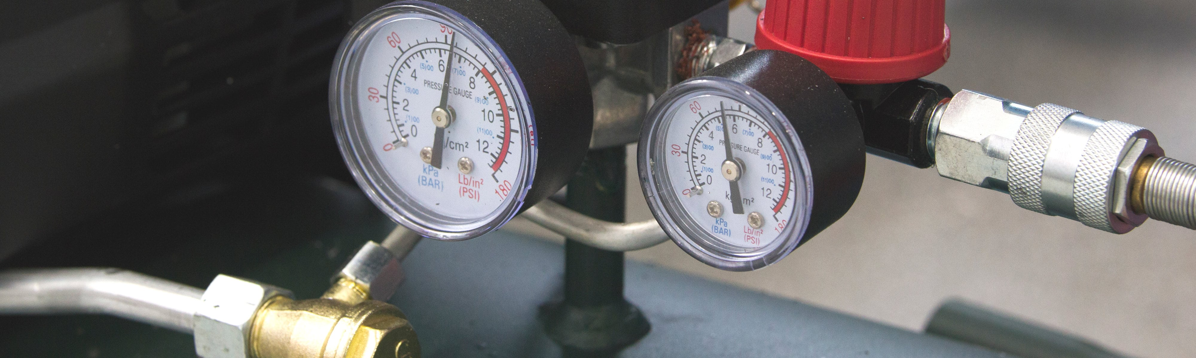 Various HVAC gauges.