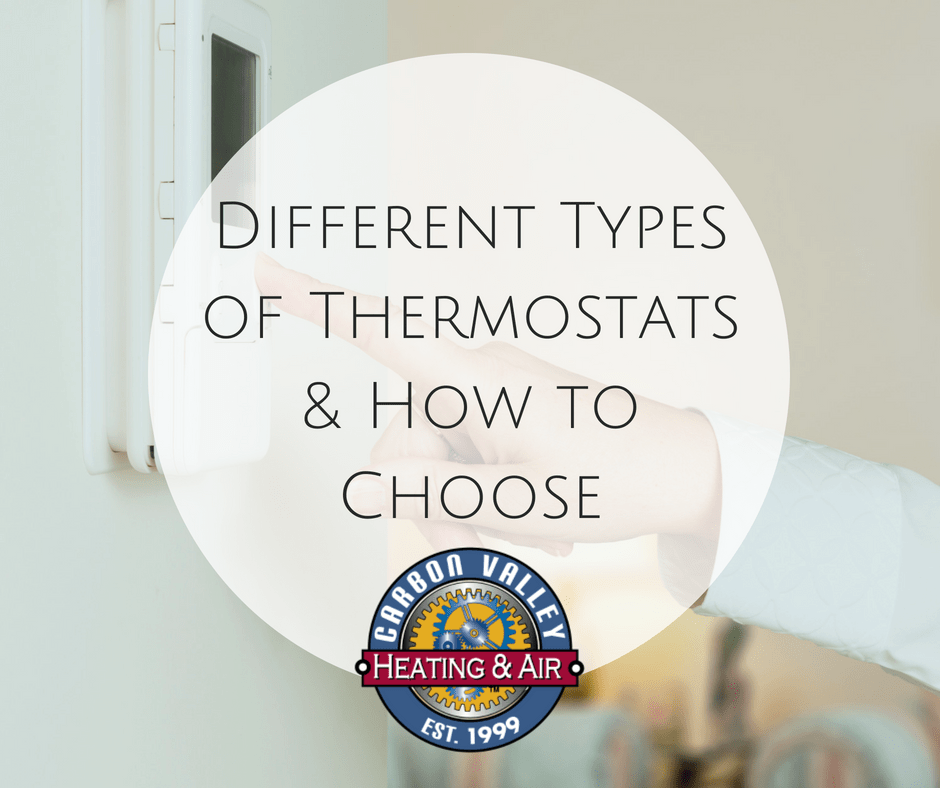 Different types of thermostats and how to choose.