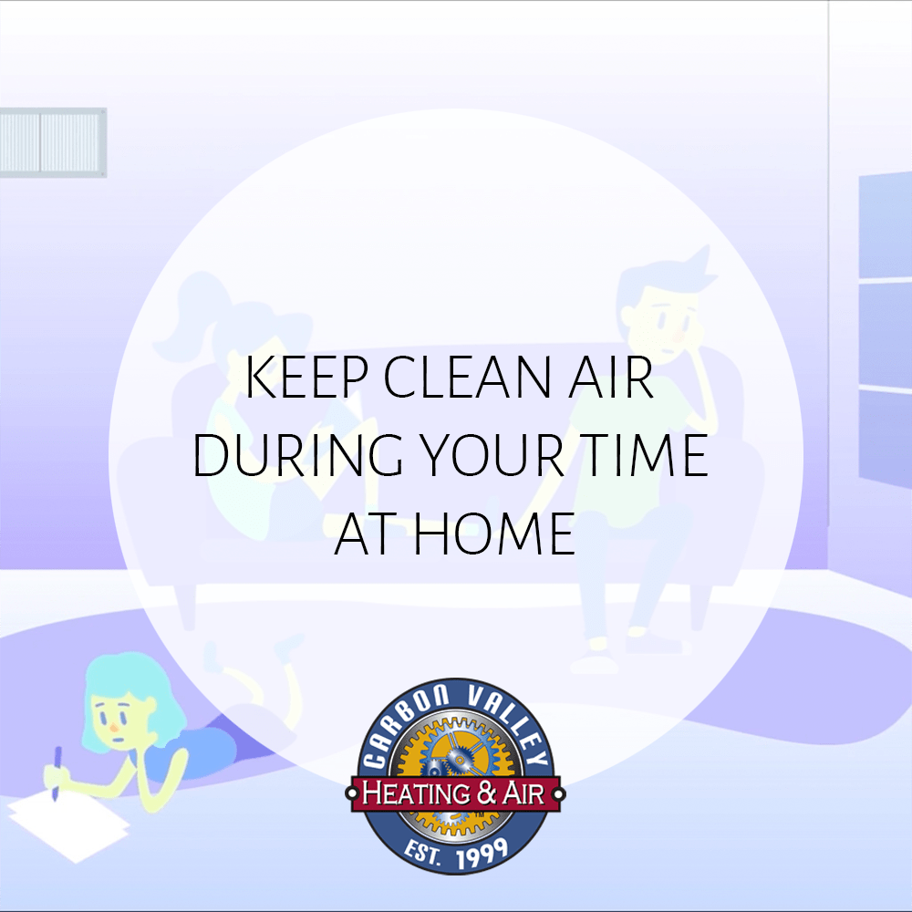 Keep Air Clean During Your Time At Home.
