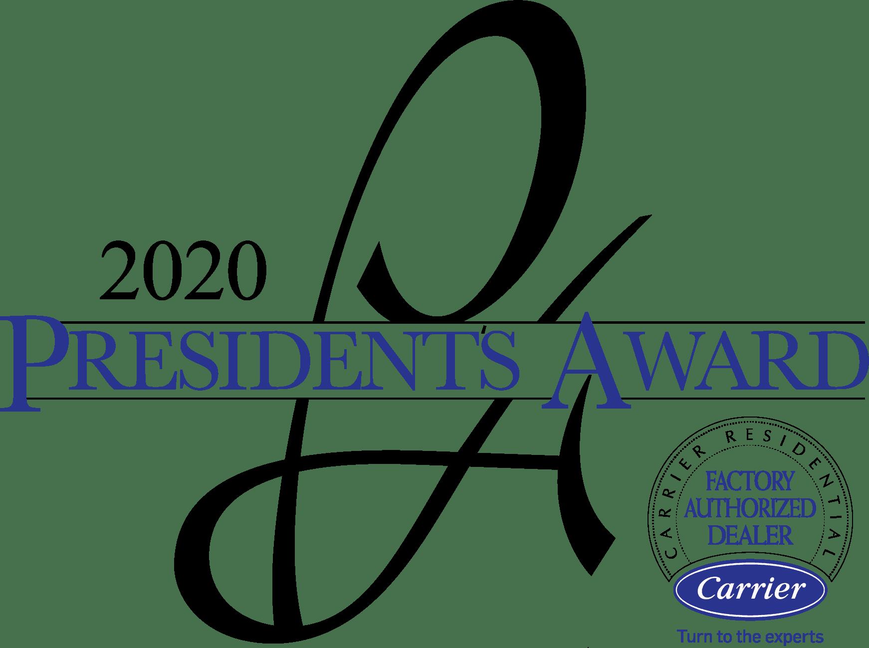 Carrier Presidents Award logo.